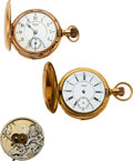 Timepieces:Pocket (pre 1900) , Three Waltham Five Minute Repeaters (One Is Movement Only)...