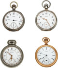 Timepieces:Pocket (pre 1900) , Four Model 72 Waltham Watches. ... (Total: 4 Items)
