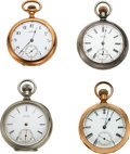 Timepieces:Pocket (pre 1900) , Four Waltham Model 72 Watches. ... (Total: 4 Items)