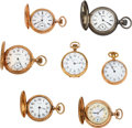 Timepieces:Pocket (post 1900), Seven Waltham Lady's Watches, Four 14k Gold, One Rare 1 Size 17 Jewel American Watch Grade Display, One Silver, One 21 Jewel R... (Total: 7 Items)