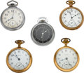 Timepieces:Pocket (post 1900), Five Waltham Watches, Railroader, Two 21 Jewel Two Tones, ...