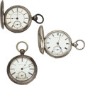 Timepieces:Pocket (pre 1900) , Two Waltham 59 Model Appleton Tracy & Co. Reversible Cente...