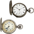 Timepieces:Pocket (pre 1900) , Western Watch Co. Chicago & 21 Jewel H.H. Smith Watches. ... (Total: 2 Items)