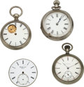 Timepieces:Other , Four Rare Movements, Auburndale Rotary, Auburndale Lincoln...