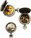 Timepieces:Pocket (pre 1900) , Three Rare Early American Independent Make Pocket Chronometers. ... (Total: 3 Items)
