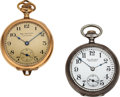 Timepieces:Pocket (post 1900), Two Ball Watch Co. 6/0 Size In Original Boxes. ... (Total: 2 Items)