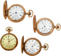 Timepieces:Pocket (post 1900), Four Hamilton, Two Grade 977, Grade 935, 14k Gold Cased 972. ... (Total: 4 Items)