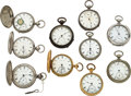 Timepieces:Pocket (pre 1900) , Ten New York Watch Co. Key Winds. ... (Total: 10 Items)