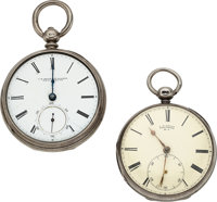 Two Early American Lever Fusee Watches, J.R. Brown Providence R.I., J.R. Brown & Sharpe Providence R.I. ... (Tot...