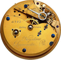 Lancaster Watch Co., Extremely Rare Double Escape Wheel Constant Contact Unique Escapement Watch