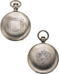 Timepieces:Pocket (pre 1900) , Two New York Watch Co. Railroad Grade Key Winds. ... (Total: 2 Items)