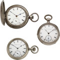 Timepieces:Pocket (pre 1900) , Three Rare American Watches, Western Watch Co. Chicago, New York Watch Co. E.W. Bond & Albert Clark. ... (Total: 3 Items)