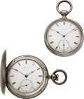 Timepieces:Pocket (pre 1900) , New York Watch Co., H.G. Norton & John L. King Key Winds. ... (Total: 2 Items)