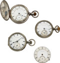 Timepieces:Pocket (pre 1900) , Four New York Watch Co. 19 Jewel Early Movements For Parts...