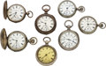 Timepieces:Pocket (pre 1900) , Seven Independent Watch Co. Fredonia N.Y. Watches. ... (Total: 7 Items)