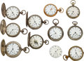 Timepieces:Pocket (pre 1900) , Ten New York Watch Co. Key Winds & One E.W. Bond Movement. ... (Total: 11 Items)