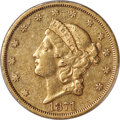 Liberty Double Eagles, 1871-CC $20 XF40 PCGS. Variety 1-A....