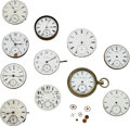 Timepieces:Other , Eleven Rare American Movements/Dials. ... (Total: 11 Items)