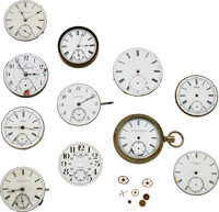 Eleven Rare American Movements/Dials ... (Total: 11 Items)