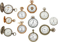 Eleven Unusual American Watches/Movements ... (Total: 11 Items)