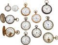 Timepieces:Pocket (pre 1900) , Eleven Watches, One Movement. ... (Total: 12 Items)