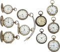 Timepieces:Pocket (pre 1900) , Ten Better American Watch Co. Key Winds. ... (Total: 10 Items)