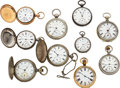 Timepieces:Pocket (pre 1900) , Ten Waltham Watches . ... (Total: 10 Items)