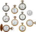 Timepieces:Pocket (post 1900), Ten Waltham Watches. ... (Total: 10 Items)