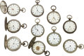 Timepieces:Pocket (pre 1900) , Lot of 10 New York Watch Co. Key Winds. ... (Total: 10 Items)