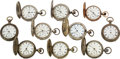 Timepieces:Pocket (pre 1900) , Lot of 10 United States Watch Co. Marion N.J. Watches. ... (Total: 10 Items)