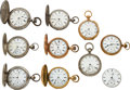 Timepieces:Pocket (pre 1900) , Lot of 10 E. Howard & Co. Boston, 5 Series III, 4 Series I...