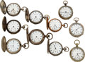 Timepieces:Pocket (pre 1900) , Lot of 10 United States Watch Co. Marion N.J. Key Winds. ... (Total: 10 Items)