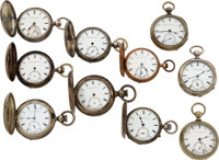 Lot of 10 United States Watch Co. Marion N.J. Key Winds ... (Total: 10)
