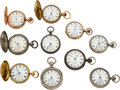 Timepieces:Pocket (pre 1900) , Ten Hampden Watch Co. Watches. ... (Total: 10 Items)