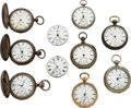 Timepieces:Pocket (pre 1900) , Ten Tremont Watch Co. Key Wind Watches. ... (Total: 10 Items)