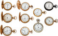 Timepieces:Pocket (post 1900), Ten Hampden Watch Co., Six 18 Size, Four 16 Size. ... (Total: 10 Items)