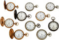Timepieces:Pocket (pre 1900) , Ten Lancaster Pa. Pocket Watches. ... (Total: 10 Items)