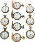 Timepieces:Pocket (pre 1900) , Ten Aurora Watch Co. 18 Size Watches. ... (Total: 10 Items)