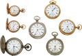 Timepieces:Pocket (pre 1900) , Six Columbus Watches & One Rockford 15 Ruby Jewel Key Wind...