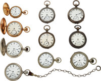 Ten Lancaster Watch Co. Pocket Watches ... (Total: 10 Items)