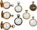 Timepieces:Pocket (pre 1900) , Eight Elgin Convertible 16 Sizes. ... (Total: 8 Items)