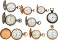Timepieces:Pocket (post 1900), Nine Elgin National Watches. ... (Total: 9 Items)