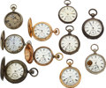 Timepieces:Pocket (pre 1900) , Ten Lancaster Watch Co. 18 Size Watches. ... (Total: 10 Items)