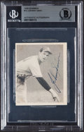 Autographs:Sports Cards, Signed 1948 Bowman Johnny Sain #12 Beckett Authentic....