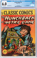 Golden Age (1938-1955):Classics Illustrated, Classic Comics #18 The Hunchback of Notre Dame - First Edition (1A) (Gilberton, 1944) CGC FN 6.0 Off-white pages....