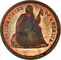 Patterns, 1869 10C Ten Cents, Judd-717, Pollock-797, Cassel-46, R.7, PR64 Red and Brown PCGS. CAC....