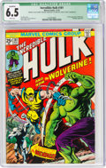 Bronze Age (1970-1979):Superhero, The Incredible Hulk #181 (Marvel, 1974) CGC Qualified FN+ 6.5 White pages....