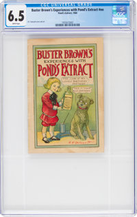Buster Browns Experiences with Pond's Extract #nn (Pond's Extract, 1904) CGC FN+ 6.5 White pages