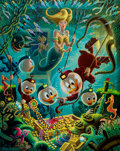 Memorabilia:Disney, Carl Barks The Makings of a Fish Story Signed Limited Edition Lithograph Print #60/345 (Another Rainbow, 1990)....