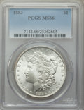 Morgan Dollars: , 1883 $1 MS66 PCGS. PCGS Population: (1093/150). NGC Census: (820/136). CDN: $380 Whsle. Bid for problem-free NGC/PCGS MS66....
